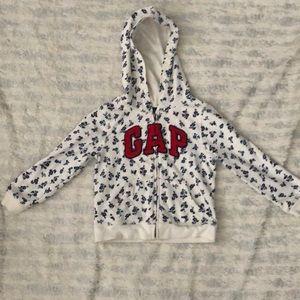 Girls GAP logo zip hoodie